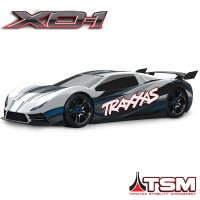 TRAXXAS - XO-1 BLANCHE SUPERCAR 4x4 1/7 BRUSHLESS WIRELESS +TELEMETRIE - TSM 64077-3