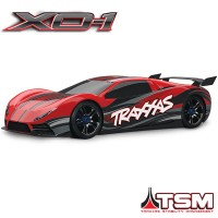 TRAXXAS - XO-1 ROUGE SUPERCAR 4x4 1/7 BRUSHLESS WIRELESS +TELEMETRIE - TSM 64077-3