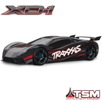 TRAXXAS - XO-1 NOIR SUPERCAR 4x4 1/7 BRUSHLESS WIRELESS +TELEMETRIE - TSM 64077-3