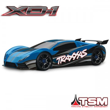 TRAXXAS - XO-1 BLEU SUPERCAR 4x4 1/7 BRUSHLESS WIRELESS +TELEMETRIE - TSM 64077-3