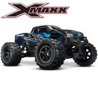 TRAXXAS - X-MAXX BLEU 4WD BRUSHLESS RADIO TQI & TSM ID RTR 77076-4