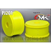 6MIK - JANTES TRUGGY JAUNE FLUO (X2) TPJ201