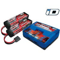 TRAXXAS - BATTERY/CHARGER COMPLETER PACK (DUAL ID CHARGER +5000MAH 11.1V 3-CELL 25C LIPO BATTERY (2) TRX2990G