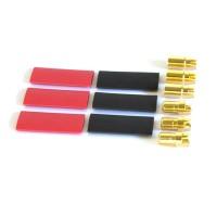 TEAM ORION - CONNECTEURS 6MM GOLD MALES (3) / FEMELLES (3) ORI40014