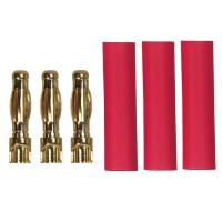 TEAM ORION - CONNECTEURS 4MM AVIONICS GOLD MALES (3) AVEC GAINE ORI62509