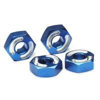 TRAXXAS - ALUMINUM WHEEL HEX HUBS BLUE-ANODIZED 4954X