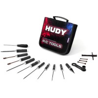 HUDY - SET OF TOOLS + CARRYING BAG FOR 1/8 OFF-ROAD CARS 190003