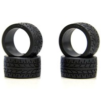 KYOSHO - MINIZ RACING RADIAL TYRES 10 SHORE - WIDE (4) MZW38-10