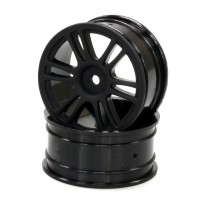 KYOSHO - WHEEL 1:10 26MM 12 SPOKE BLACK (2) 92015BK