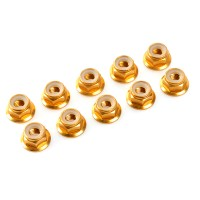 TEAM CORALLY - NYLSTOP EPAULE ALU M3 OR - 10PCS C-31120