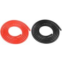 TEAM CORALLY - FIL NOIR & ROUGE 14AWG D3.5MM - 2X1M C-50122