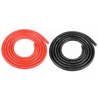 TEAM CORALLY - FIL NOIR & ROUGE 12AWG D4.5MM - 2X1M C-50112