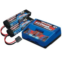 TRAXXAS - BATTERY/CHARGER COMPLETER PACK (INCLUDES 2972 DUAL ID CHARGER 2869X 7600MAH 7.4V 2-CELL 25C LIPO BATTERY (2) 2991G