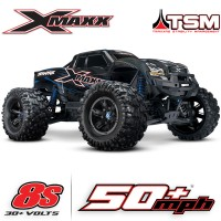 TRAXXAS - X-MAXX 8S 4WD BRUSHLESS RTR MONSTER TRUCK W/2.4GHZ TQI RADIO & TSM 77086-4