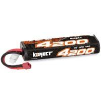 KONECT - BATTERIE LIPO 4200MAH 7.4V 40C 2S1P 31Wh (STICK PACK DEAN) KN-LP2S4200
