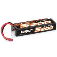 KONECT - BATTERIE LIPO 5200MAH 7.4V 40C 2S1P 38.4Wh (STICK PACK DEAN) KN-LP2S5200