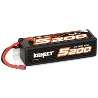 KONECT - BATTERIE LIPO 5200MAH 11.1V 50C 3S1P 57.7WH (BIG PACK DEAN) KN-LP3S5200