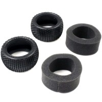 KYOSHO - REAR TYRES 1:10 FAZER KOBRA/DIRT HOG (2) SUPER SOFT W/INNER FAT202SS