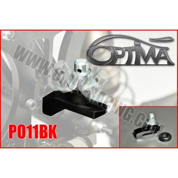 6MIK - SUPPORT CARROSSERIE ARRIERE OPTIMA SUR SILENT BLOC NOIR PO11BK