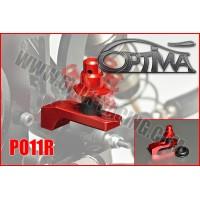 6MIK - SUPPORT CARROSSERIE ARRIERE OPTIMA SUR SILENT BLOC ROUGE PO11R