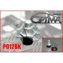 6MIK - SUPPORT CARROSSERIE AVANT OPTIMA SUR SILENT BLOC NOIR PO12BK