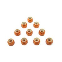 T-WORK'S - ECROU NYLSTOP M3 ALU ORANGE (10PCS) TASS-3LNO