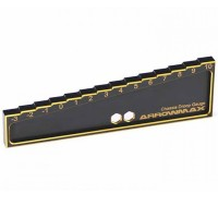 ARROWMAX - JAUGE DE DROOP -3 A 10 MM POUR 1/8 & 1/10 CARS (20MM) BLACK GOLDEN AM171013
