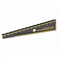 ARROWMAX - CHASSIS DROOP GAUGE -3 TO 10 MM FOR 1:10 CARS (10MM) BLACK GOLDEN AM171012