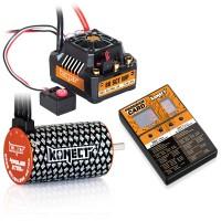 KONECT - COMBO BRUSHLESS 80AMP SCT WP + MOTEUR 4P 3660SL 3700KV+CARTE DE PROG