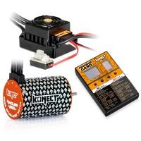 KONECT - COMBO BRUSHLESS 1/10 50AMP WP + MOTEUR 4P 3652SL 4000KV & CARTE PROG