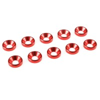 TEAM CORALLY - RONDELLE ALU FHC M4 - ROUGE - 10 PCS C-31215