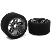 TEAM CORALLY - ATTACK FOAM TIRES 1/8 CIRCUIT - 32 SHORE FRONT 2 PCS C-14710-32