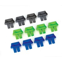 TRAXXAS - CONNECTEUR INDICATEUR DE CHARGE BATTERIE VERT (4) / BLEU (4) / GRIS (4) 2943