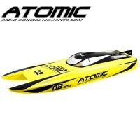 VOLANTEX - RACENT ATOMIC 70CM BRUSHLESS RACING BOAT RTR YELLOW V792-4Y