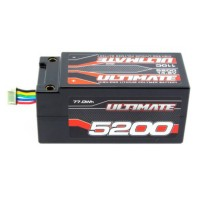 ULTIMATE - BATTERIE LIPO 4S 14.8V. 5200 MAH 110C SHORTY PACK 5MM TUBES UR4433
