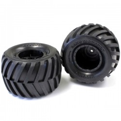 KYOSHO - TYRES & WHEELS (2) MONSTER TRACKER 1:10 EP EZT001