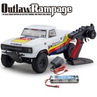 KYOSHO - OUTLAW RAMPAGE 1:10 EP 2WD TRUCK (KT231P) T1 WHITE READYSET 34361T1