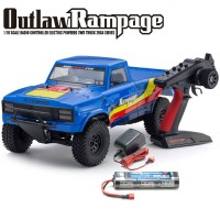 KYOSHO - OUTLAW RAMPAGE 1:10 EP 2WD TRUCK (KT231P) T2 BLEU READYSET 34361T2