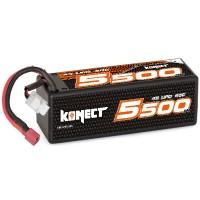 KONECT - BATTERIE LIPO 5500MAH 14.8V 60C 4S1P 81.4WH (XL PACK DEAN) KN-LP4S5500