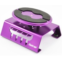 FASTRAX - PURPLE ALUM LOCKING ROTATING CAR MAINTENANCE STAND W/MAGNET FAST407P
