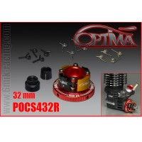 6MIK - OPTIMA 4 SHOES CLUTCH SET 32MM RED POCS432R