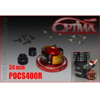 6MIK - EMBRAYAGE OPTIMA 4 POINTS ALU COMPLET 34MM ROUGE POCS400R