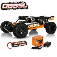 HOBBYTECH - 1/8 OFF-ROAD SUPER-LIGHT BRUSHLESS DESERT BUGGY ORANGE RTR SL.DB8.OR.RTR