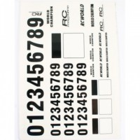 MATRIXLINE - NUMBER DECAL SHEET - BLACK A002BK