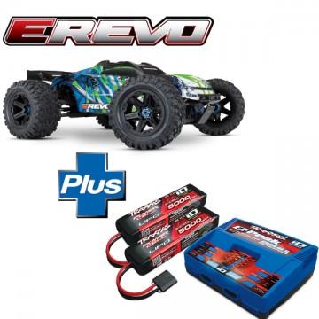 TRAXXAS - COMBO E-REVO - 4x4 - 1/10 BRUSHLESS - TSM AQ/CHG 86086-4-2990G