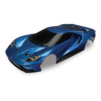 TRAXXAS - BODY FORD GT BLUE PAINTED & DECALS APPLIED 8311A