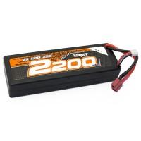 KONECT - BATTERIE LIPO 7.4V 2200MAH 25CC 2S1P (SLIM PACK DEAN) KN-LP2S2200