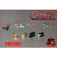 6MIK - MASSELOTTES ALU 4PTS OPTIMA AVEC RESSORTS 20PCS POCS401