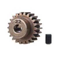 TRAXXAS - GEAR 22-T PINION (48-PITCH) / SET SCREW 2422