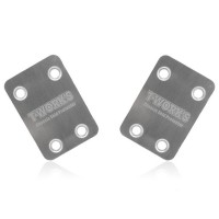 T-WORK'S - SABOT DE PROTECTION CHASSIS INOX ARRIERE KYOSHO MP9 (2PCS) TO-220-K